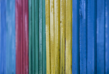 Colorful fence