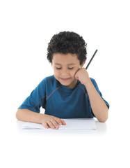 School Boy Thinking