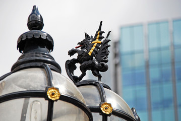 Griffin in front of Building - City of London