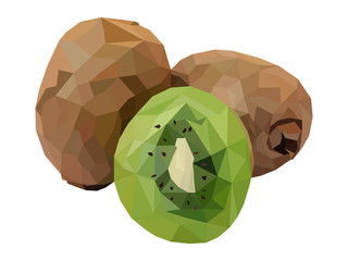 kiwi fruit geometric