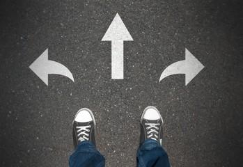 Den richtigen Weg wählen - Konzept