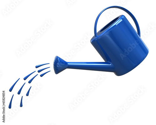 Watering can pouring water
