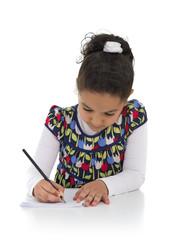 Homework Young Girl