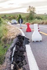 Crollo stradale