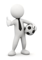 omino bianco con pallone