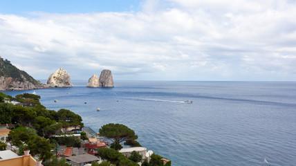 Faraglioni, famous giant rocks, Capri island