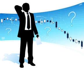 Puzzled businessman