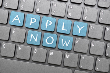 Apply now on keyboard