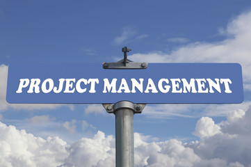 Project management road sign