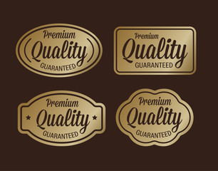 Premium quality guaranteed golden retro design
