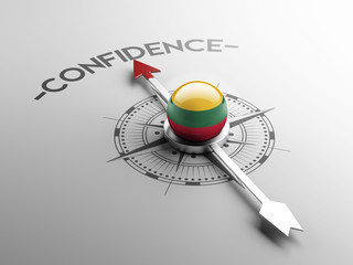 Lithuania Confidence Concept