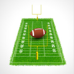 American football field with realistic grass texture