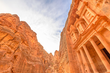 The Treasury in Petra, Jordan. It is known as Al Khazneh.