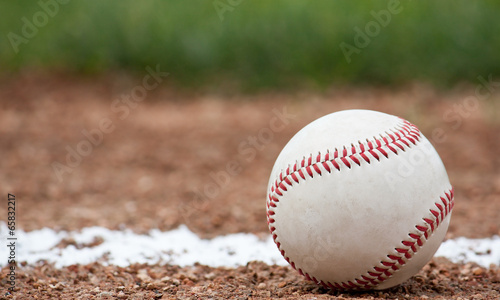 Close-up of a baseball - 65832217