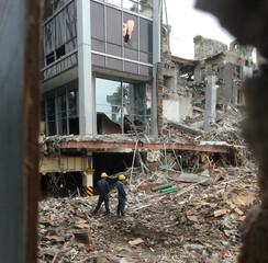 Edificio demolido en la Ciudad de México