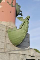Фрагмент Ростральной колонны. Санкт-Петербург