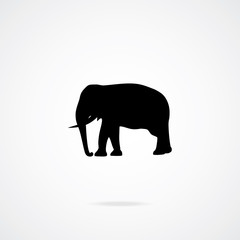 Icon of Elephant. Vector Illustration.