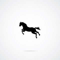 Horse Icon. Vector Illustration.