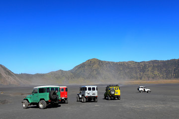 Tourists 4x4 for tourist rent at Mount Bromo