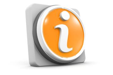 3d information web icon design.