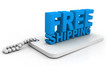 3D Free Shipping text