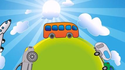 Farhrzeuge Transport Auto Bus Bahn Flugzeug Verkehr