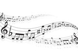 Fototapety 音符 楽譜 音楽