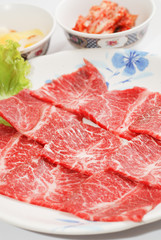 high quality premium Fresh Beef slices korean grilled menu