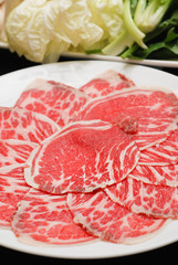 Hot pot  Sukiyaki Dinner Set, Fresh Beef pork slices