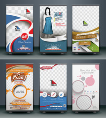 Set of  Roll Up Banner Design