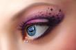 Closeup female eye with beautiful makeup
