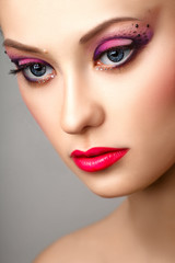 fashion blonde model portrait professional makeup