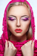 close up portrait of beauty woman with makeup