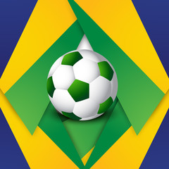 Soccer background colorful brazil flag concept stylish vector