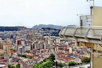 Panorama della città di Cagliari dal Quartiere Castello
