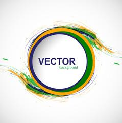 Beautiful Brazil colors circle grunge stylish splash design illu