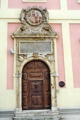 Ingresso dell'ex Palazzo Civico di Cagliari
