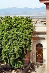 Facciata del Museo archeologico di Cagliari