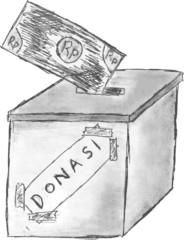 hand draw sketch, Donation Box