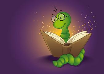 Bücherwurm und Zauberbuch