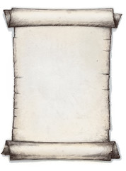 Scroll of old paper. illustration.