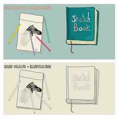 Vector Hand drawn Sketchbook Illustration