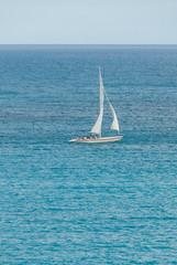 Sailing sloop in the Caribbean IV