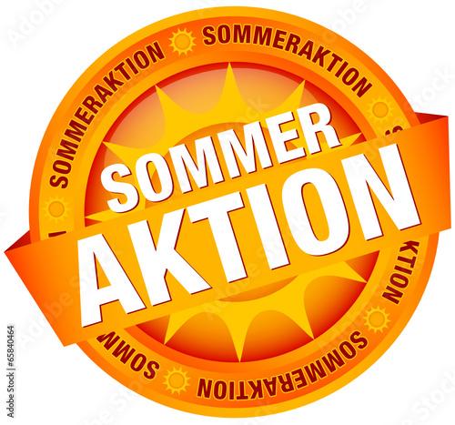 """Button Banner """"Sommeraktion"""" orange"""