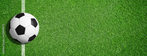 canvas print picture Soccer - Background / Ball / Gras