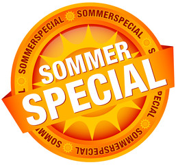 "Button Banner ""Sommerspecial"" orange"