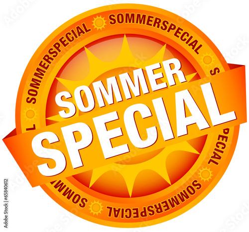 "Button Banner ""Sommerspecial"" orange"