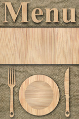 Background made of wooden planks and old canvas