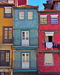 Colorful houses of Oporto