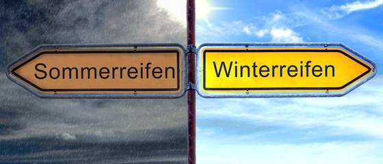 Strassenschild 2 - Winterreifen